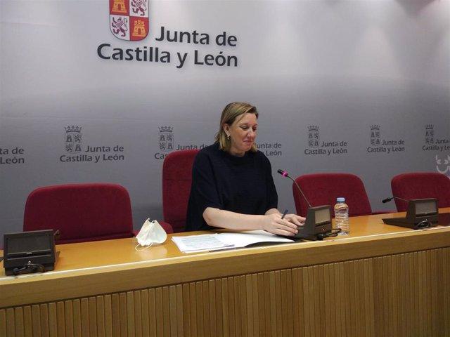 La consejera de Familia e Igualdad de Oportunidades de Castilla y León, Isabel Blanco, presenta los grupos de trabajo para la elaboración de la Ley de Atención Residencial.