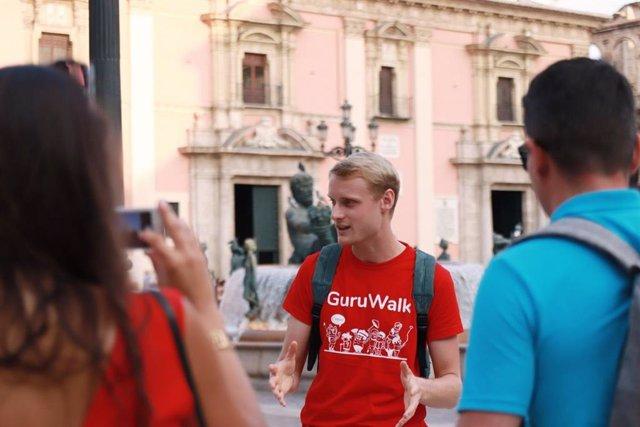 Free tour realizado en Valencia por GuruWalk, antes del confinamiento