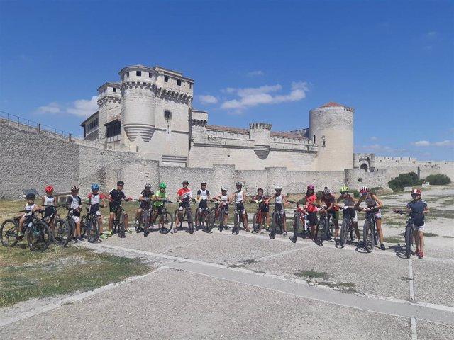 Participantes en el Triatlon del programa de la Diputación de Segovia.