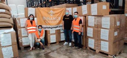 Binance Charity dona 15.000 trajes protectores y 31.200 mascarillas en la lucha frente al COVID-19