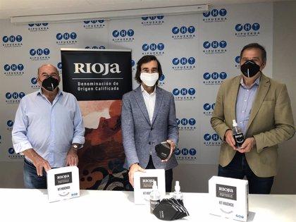DOCa Rioja impulsa una campaña de reactivación a la hostelería guipuzcoana y les dona kits higiénico-sanitarios