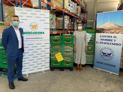Mercadona dona casi 40 toneladas de alimentos a entidades sociales de las islas Canarias durante esta semana