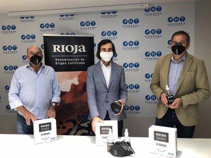 DOCa Rioja.- DOCa Rioja impulsa una campaña de reactivación a la hostelería guipuzcoana y les dona kits higiénico-sanitarios