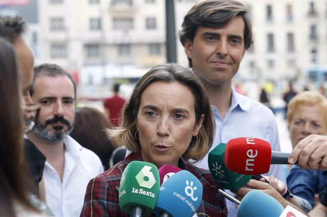 La vicesecretaria de Política Social del PP, Cuca Gamarra, y el vicesecretario de Comunicación del PP, Pablo Montesinos.