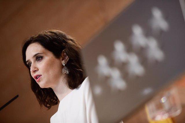 Imagen de archivo de la presidenta de la Comunidad de Madrid, Isabel Díaz Ayuso. Archivo.