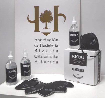 El vino de Rioja apoya a la hostelería vizcaína con una campaña de reactivación y reparto de kits higiénico-sanitarios