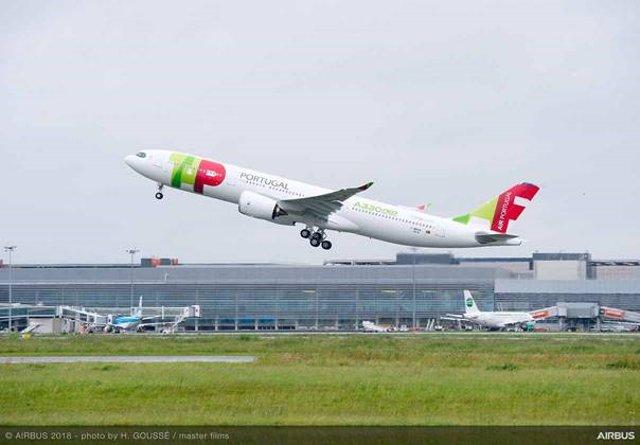La aerolínea portuguesa TAP Air Portugal.