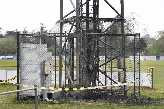 Ataque a una antena de telefonía en Bélgica en abril