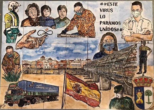Mural cedido al pueblo de Puerto Lumbreras y pintado a mano por el artista Miguel Ángel Martínez Morales