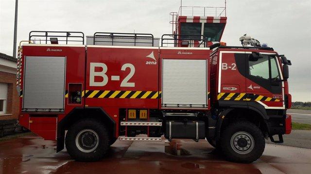 El nuevo camión autoextintor del Aeropuerto de Córdoba