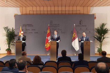 Aragón, CLM y CyL firman la petición de ayudas especiales para Teruel, Cuenca y Soria