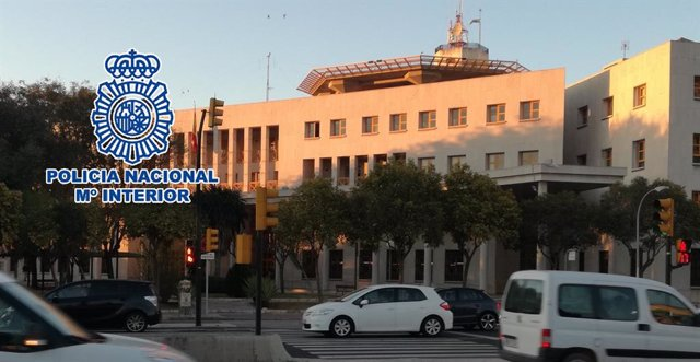 Facahda de la comisaría central de Policía Nacional de Málaga capital