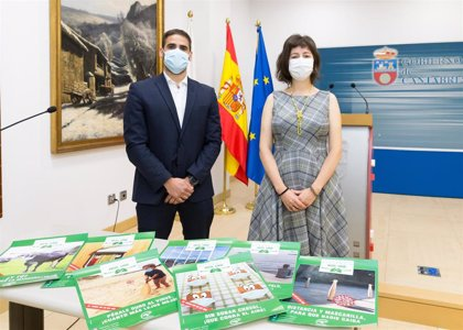 Emblemas de Cantabria lucen mascarilla en una campaña para concienciar frente al Covid