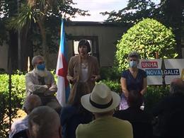 La portavoz nacional del BNG y candidata a la Presidencia de la Xunta, Ana Pontón, mantiene un encuentro con el sector cultural