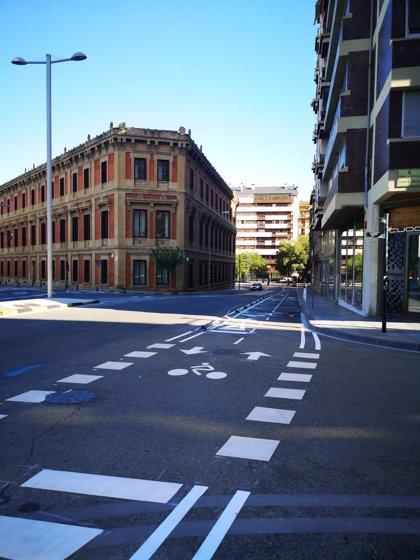 Las obras del carril bici que une el paseo de Sarasate con la plaza de Europa llegan el lunes a la avenida del Ejército
