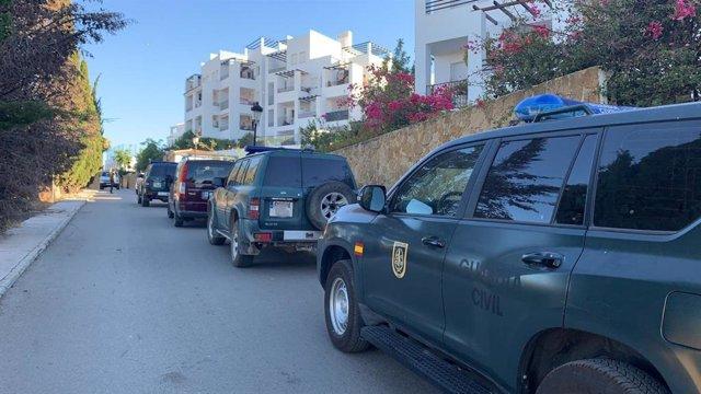 Operativo de la Guardia Civil en Manival contra el tráfico internacional de hachís