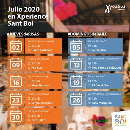 COMUNICADO:  Noches de humor y clases de zumba en Xperience Sant Boi durante el mes de julio