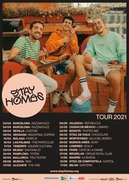 Cartell de la gira internacional del grup Stay Homas.