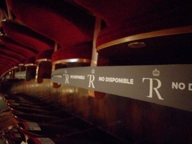 Patio de butacas del Teatro Real con medidas de separación por el Covid-19
