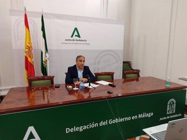 El consejero de la Presidencia, Administración Pública e Interior, Elías Bendodo, participa en la Junta Regional de la Unidad de Policía Adscrita a la Comunidad Autónoma de Andalucía.