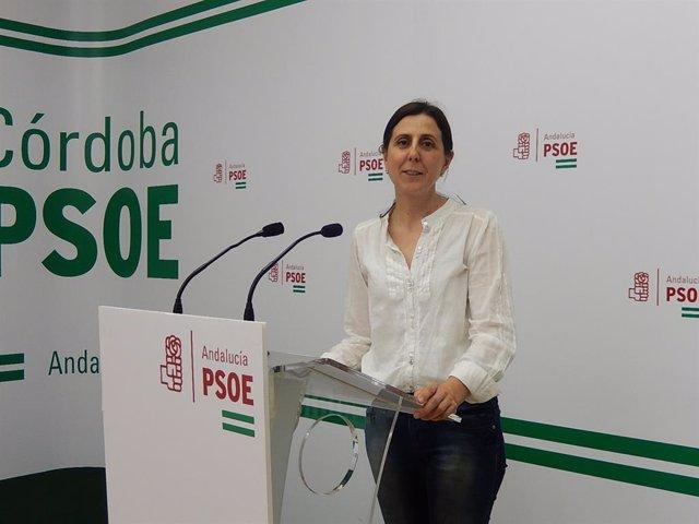La secretaria de Economía y Empleo del PSOE de Córdoba, Inmaculada Román
