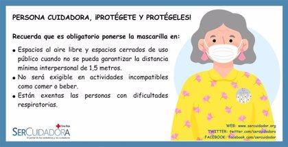 Cruz Roja en Valladolid apoya a casi un centenar de personas cuidadoras, mayoritariamente mujeres