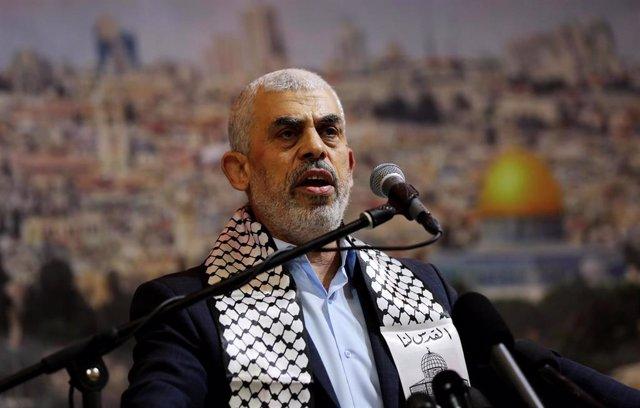 El líder del Movimiento de Resistencia Islámica (Hamás) en la Franja de Gaza, Yahya Sinuar