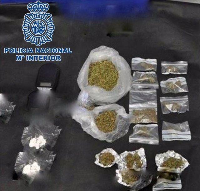 Droga intervenida por la Policía Nacional