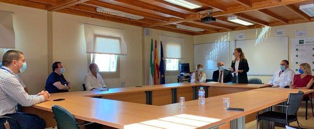 Mestre reunida en el Hospital Punta Europa
