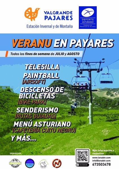 Cultura presenta el programa 'Veranu en Payares' para reactivar la estación de esquí en los meses estivales