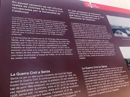 La Generalitat señalizará los cementerios donde hay víctimas de la Guerra Civil