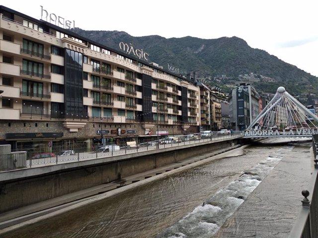 Hotel en el centro de Andorra La Vella (Archivo)