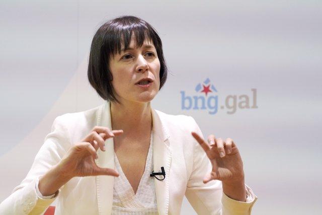 La candidata del Bloque Nacionalista Galego (BNG) a la Xunta de Galicia, Ana Pontón