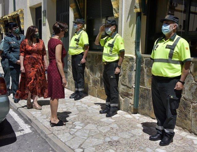 María Gámez visita instalaciones de la Guardia Civil en Jaén