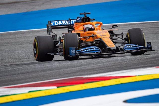 El piloto español Carlos Sainz en el arranque del Mundial en Austria
