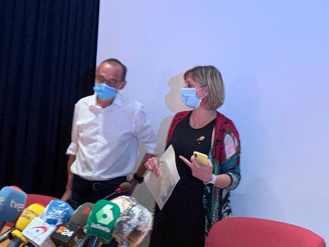 La consellera de Salut, Alba Vergés, i l'alcalde de Lleida, Miquel Pueyo.