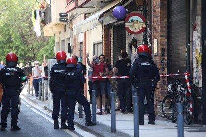 Detenidas dos personas por los altercados durante un mitin de Vox en San Sebastián