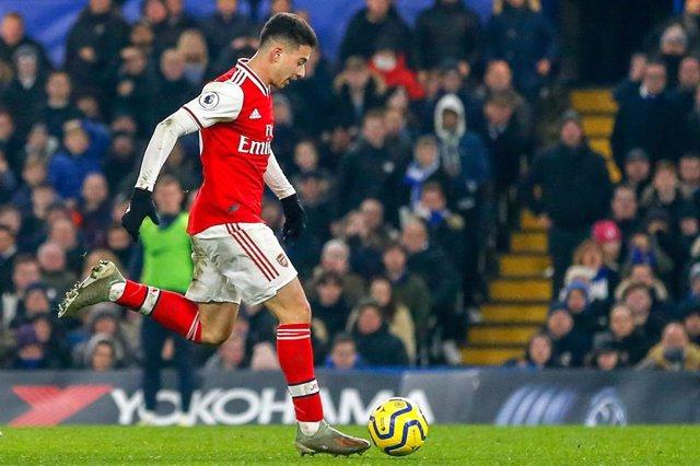 El delantero del Arsenal Gabriel Martinelli