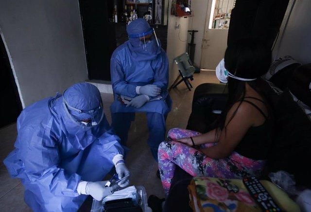 Coronavirus en Bogotá, Colombia.