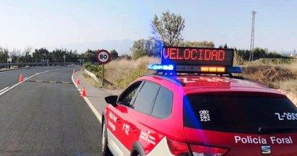 Policía Foral realizará controles de velocidad en carretera del 6 al 12 de julio