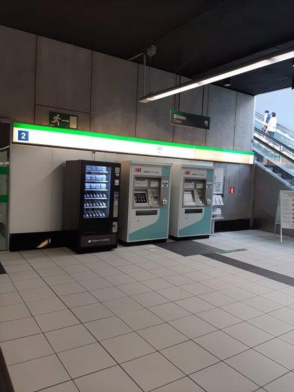 Metro de Málaga instala máquinas de venta de mascarillas e hidrogel en cinco estaciones