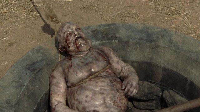 Imagen de un zombie en The Walking Dead