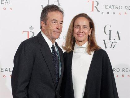 Blanca Suelves y su marido, juntos en el Teatro Real