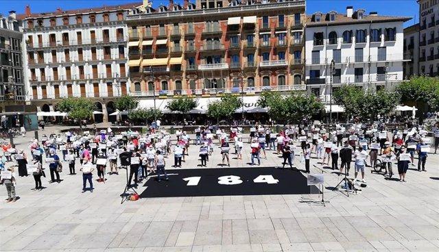 Concentración en Pamplona para rechazar la situación de los presos encarcelados lejos de sus lugares de arraigo