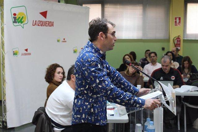 El coordinador de IU Andalucía, Toni Valero, en una imagen de archivo.