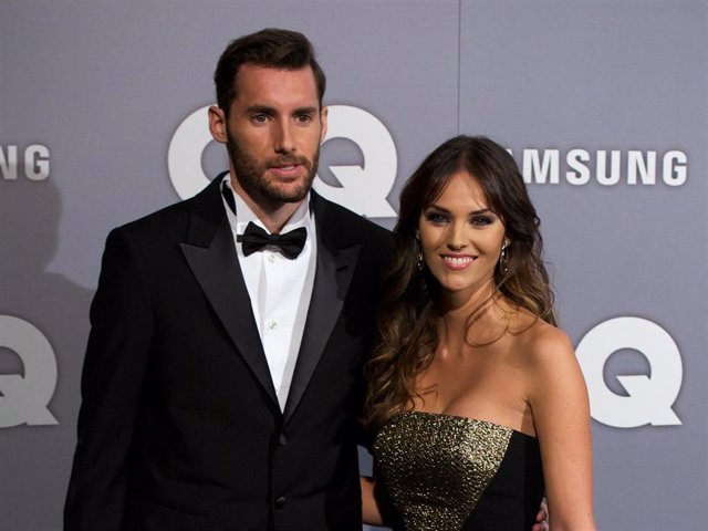 Spanish model Helen Lindes and Rudy Fernandez attend the GQ Men Of The Year Award 2013 at the Palace Hotel on November 18, 2013 in Madrid, Spain.