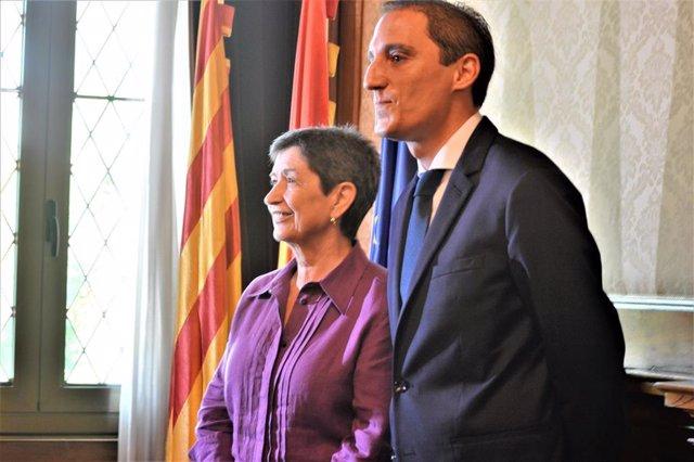 Teresa Cunillera (delegada del Gobierno en Catalunya) José Crespín (subdelegado en Lleida)
