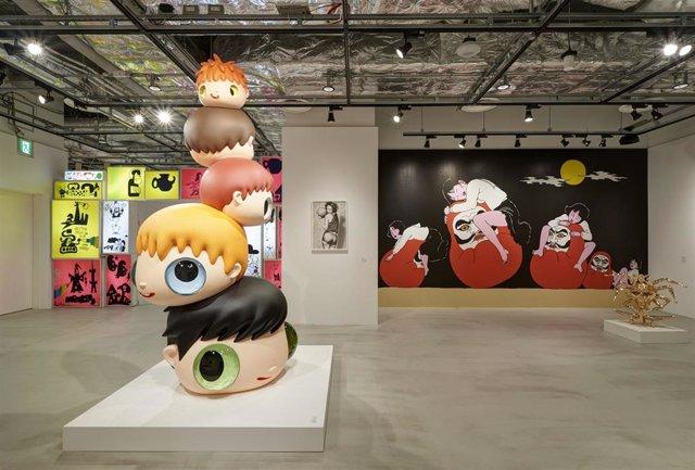 El artista malagueño lleva a Tokio la estructura 'Heads', la mayor escultura realizada por él mismo hasta la fecha