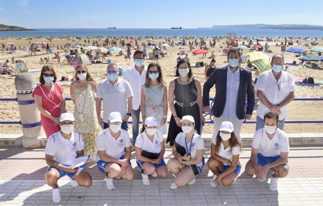 Presentación del dispositivo de playas para este verano en Santander