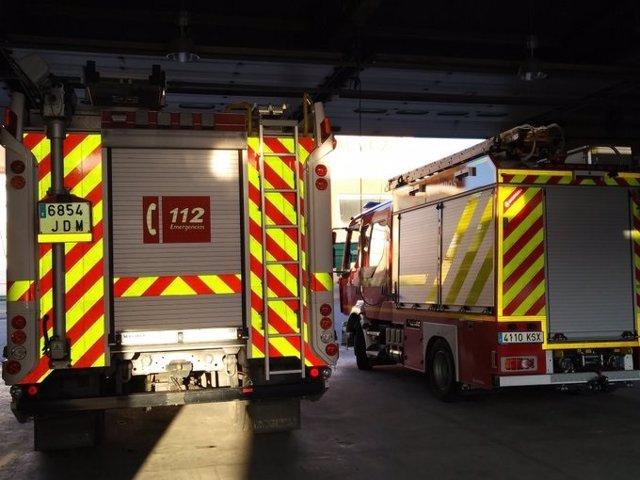 Camiones de bomberos de Andújar en una imagen de archivo